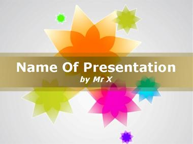 Colorful Spring Flowers Powerpoint Template image