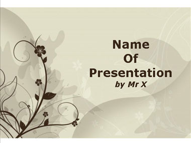 Brown Floral Background Powerpoint Template image