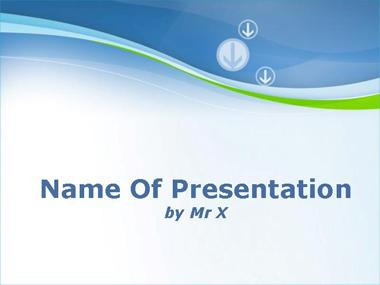 Side Arrows Background Powerpoint Template image